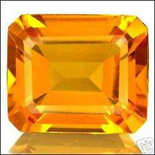 4,18 ct  Honey Gold Citrine - Emerald cut  IF - Brazil