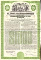New York New Haven Hartford Railroad > 1953 $1,000 bond certificate stock