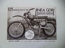 advertising Pubblicità 1975 MOTO GORI GS 125 REGOLARITA'