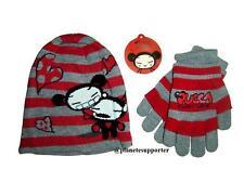 ENSEMBLE Bonnet + gants PUCCA rouge Taille 3 4 5 6 ans !!! Enfant fille ....