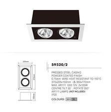 SUNNY NVC S9520/2 WHITE TWIN DOWNLIGHT, ROTATING & TILTING POWDER COATED HOUSING