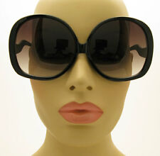 80's Style HUGE XXXL Oversized Big Womens Black Sunglasses