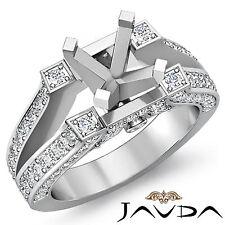 Wedding Diamond Pre-Set Ring 18k White Gold Round Semi Mount 0.71Ct Split Shank