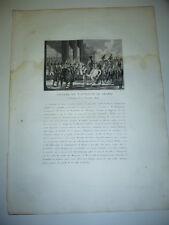 GRAVURE 1810  ENTREE DE NAPOLEON LE GRAND BERLIN 27 OCTOBRE 1806