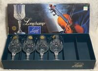 1978 Cristal D'Arques France LongChamp Crystal Cordial Glasses 5 3/4 - Set of 4