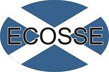 Scottish Scozia Decusse Ecosse AUTO OVALE ADESIVO DECALCOMANIA GRAFICA IN VINILE LABEL