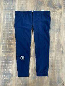 Giordana Solid Thermal Legwarmers - Navy Blue - Small