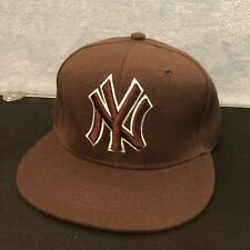 New York NY Yankees Brown Hat. Sports Cap. MLB Baseball Gear New