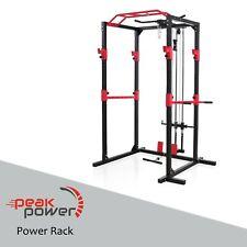 Peak Power Power Rack Kabelzug standsichere Stahlkonstruktion, Fitness Rack Set