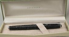 Levenger True Writer Marble Black & Chrome Fountain Pen - Medium Nib - New
