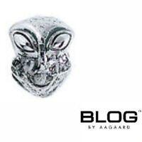 Genuine Lovelinks Mens Blog Aagaard silver 925 Alien head bracelet charm bead
