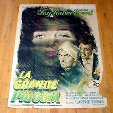 LA GRANDE PIOGGIA poster manifesto The Rains Came Tyrone Power Myrna Loy G5