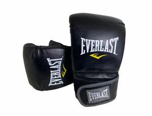 Everlast Boxing Neoprene Heavy Bag Gloves - Regular Size Large Black Boxer Glove