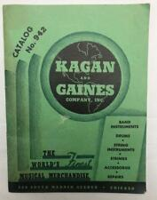 C1940'S SALES CATALOGUE KAGAN & GAINES MUSICAL INSTRUMENTS AMERICA