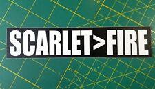 """SCARLET>FIRE 7"""" x 1.5"""" Die Cut Decal - Grateful Dead Sticker - Jerry Garcia Weir"""