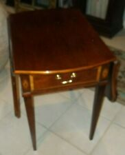 Thomasville 'The Mahogany Collection' Pembroke One Drawer End Table