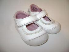 STRIDE RITE PANDA BABY GIRLS SHOES WALKER CRIB size 4 M WHITE LEATHER CUTE
