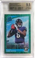 2018 Donruss Optic GREEN VELOCITY Lamar Jackson SP RC BGS 9.5 GEM MINT - RAVENS