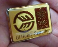 Calgary Winter Olympic Games 1988 Official Supplier Sponsor pin badge