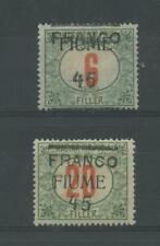 OCCUPAZIONI FIUME 1919 N.29/30 *