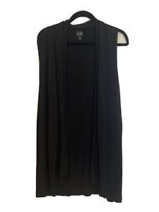 eileen fisher Large womens black shall, viscose blend