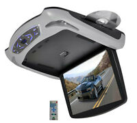 Pyle PLRD145 13.3'' LCD Roof Mount Drop Down Monitor W Built-In DVD & 3 Colors