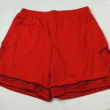 NEW Under Armour Men's Basketball Gym Running Shorts Size 2XL XXL Red NWT
