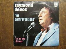 RAYMOND DEVOS 45 TOURS FRANCE PROMO LES CONTRAVENTIONS