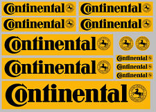 CONTINENTAL Black on Yellow decal set 12 High Quality Printed and Cut Stickers