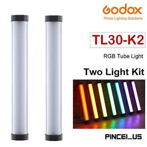 Godox TL30-K2 RGB Tube Light RGB Light Stick 2-Light Kit For Photos Video Movie