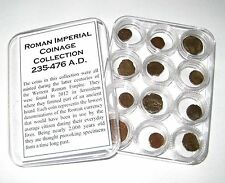 Ancient Roman Imperial coin collection in capsules 12 coins better quality