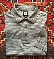 EUC Mens FootJoy Striped S/S Golf Athletic Polo THE NATIONAL Size XL