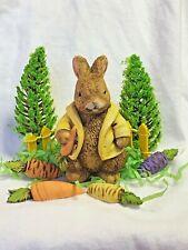 Harmony Kingdom artist Neil Eyre Designs Easter Bunny Mr. Rabbit Brown Carrot