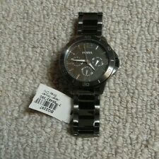 Fossil BQ2297 Chronograph Gunmetal Stainless Steel Band Men Watch - New Tag