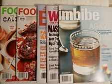 Lot Of 5 - NEW Food & Wine Magazines: March & April 2020 Alcoholic Beverages