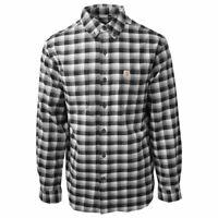 Carhartt Men's Black Rugged Flex Hamilton Plaid L/S Flannel Shirt (S02)