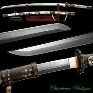 Folded Pattern Steel Blade Sharp Japanese Tachi Sword Katana Battle Ready #2828