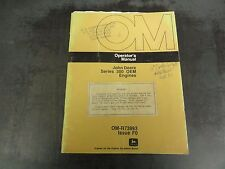 John Deere Series 300 OEM Engines Operator's Manual   OM-R73993 Issue F0