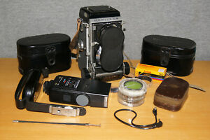 Vintage Mamiya C3 Professional Camera with Accessories and Additional Lenses