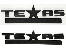 2x OEM Black Matte TEXAS Edition Emblems BADGE For Chevrolet SIERRA Silverado GM