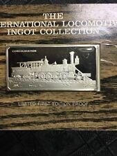 1974 Franklin Mint Consolidation Locomotive train Sterling Silver Ingot