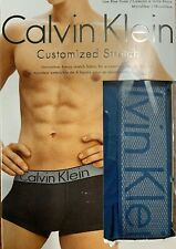 * Calvin Klein XL(40-42) Customized Stretch BLUE  LOW RISE TRUNKS NB1295-456