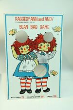 "Vintage Raggedy Ann & Andy Bean Bag Toss Game Board Sign Bobbs Merrill 24""x15"""