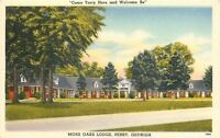 Perry Georgia~Moss Oaks Lodge~Motel Motor Court~1950 Linen Postcard