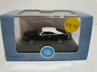 Oxford Diecast 87DC68003 Dodge Charger 1968 Black and White 1/87