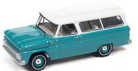 Auto World Chevy Suburban 1965 Light Green 64302 A AWSP060 1/64