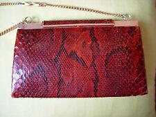 sac à main  vintage en python