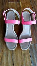 NWOB Kate Spade Dancer Platform Wedge Sandals Coral sz11