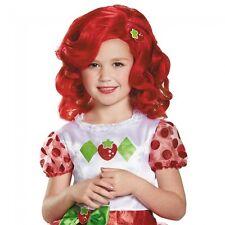 Girls Strawberry Shortcake Wig Short Wavy Red Straw Berry Short Cake Kids Child