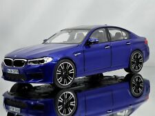 Norev BMW M5 (F90) 5 Series Sedan 2018 Marina Bay Blue Diecast Model Car 1:18